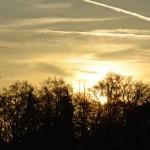 Tramonto invernale con il Friedensengel